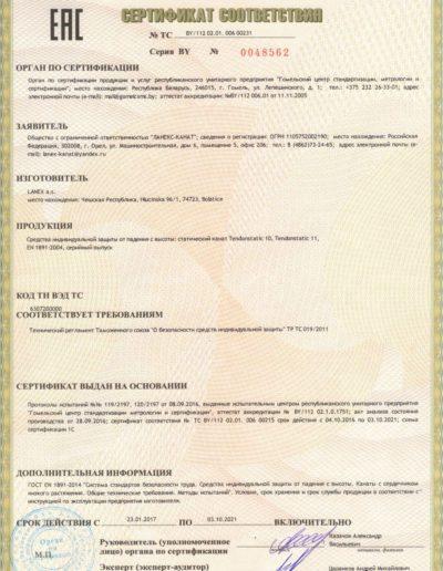 Сертификат статика Международный стандарт